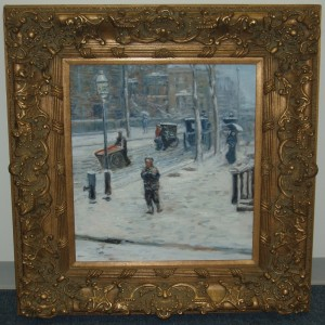 Custom reproduction painting in readymade frame