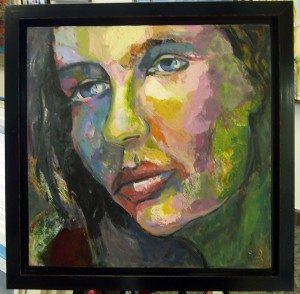 Painting in floater frame