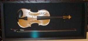 Violin in custom built shadowbox