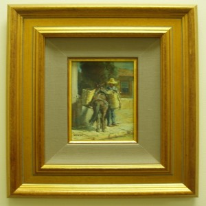 Miniature painting in fillet liner and frame