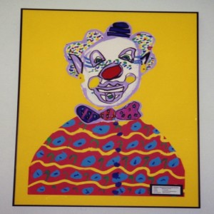Child's clown painting