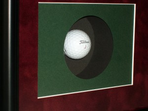 Hole in one memorabilia detail